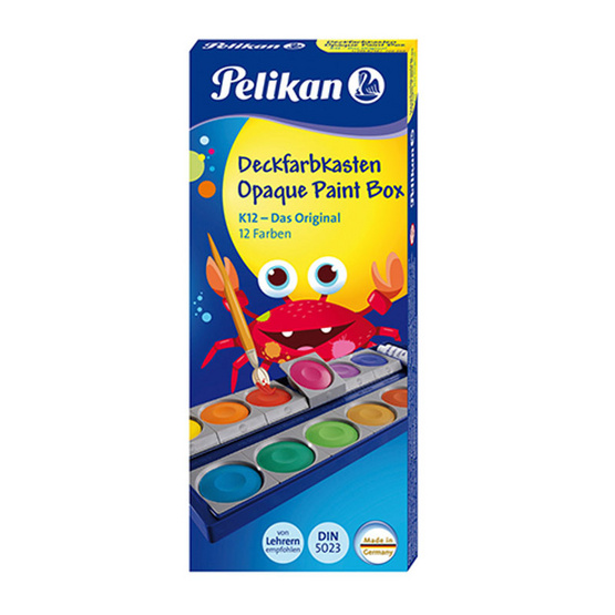Pelikan สีน้ำหลุม ตลับทึบแสง 12 สี 735K/12