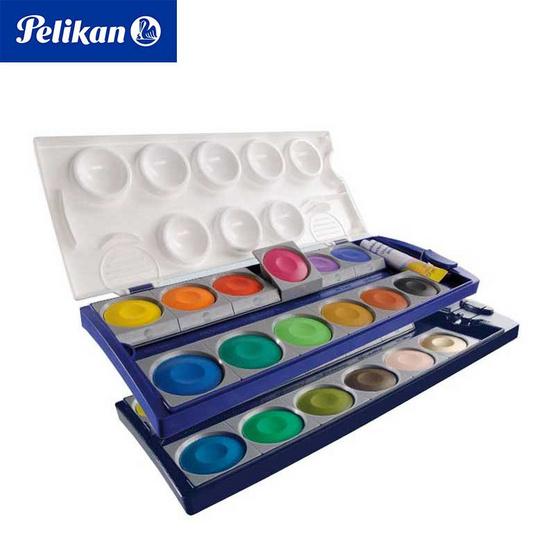 Pelikan สีน้ำหลุม ตลับทึบแสง 24 สี 735K/24