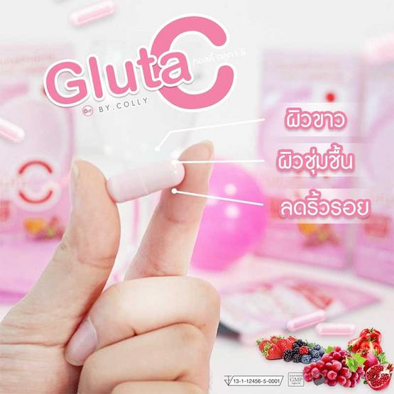 Colly Gluta C ผลิตภัณฑ์เสริมอาหารคอลลี่ กลูต้า ซี บรรจุรวม 28 แคปซูล/กล่อง