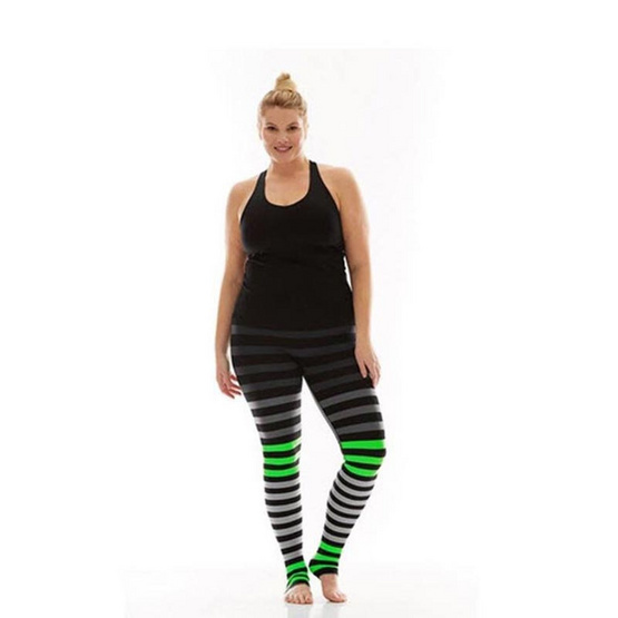 กางเกง Legging Color Value สีดำ-เขียว