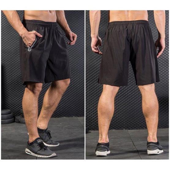 กางเกงวิ่งออกกำลังกาย Running สีดำ