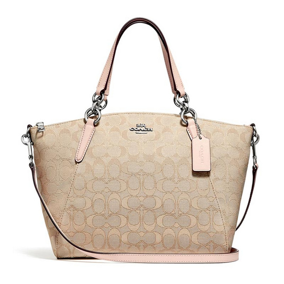 กระเป๋า COACH F27582 SMALL KELSEY SATCHEL IN SIGNATURE JACQUARD (SVBAX) [MCF27582SVBAX]