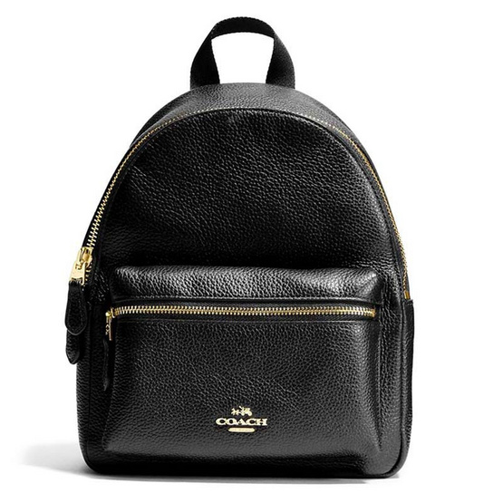 กระเป๋า COACH F28995 MINI CHARLIE BACKPACK IN PEBBLE LEATHER (IMBLK) [MCF28995IMBLK]