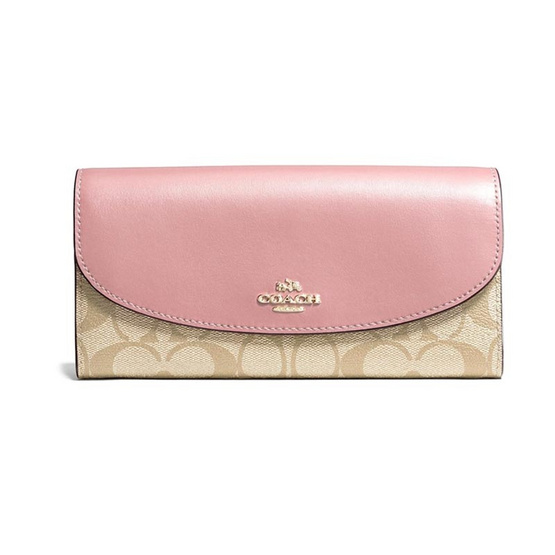 กระเป๋าสตางค์ COACH F54022 SLIM ENVELOPE WALLET IN SIGNATURE (IMNHK) [MCF54022IMNHK]