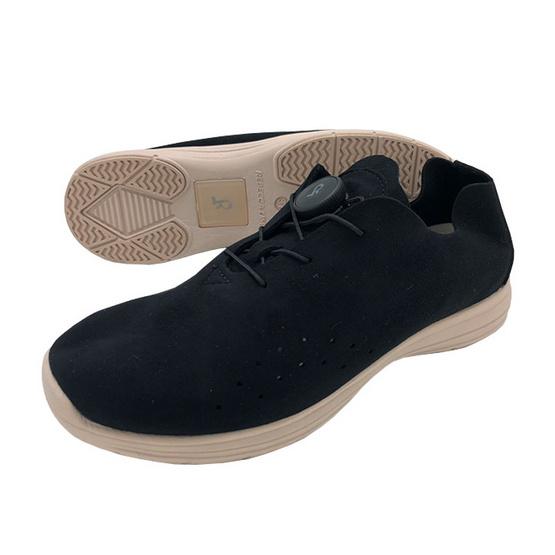 Talon รองเท้าคัชชูเพื่อสุขภาพเท้า รุ่น BUSAN สีดำ-พื้นรองเท้าสีเบส