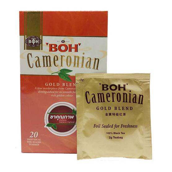 BOH ชาคาเมโรเนียนโกล์ดเบลนด์ ชนิดซองชงตราโบ๊ บรรจุ 20 ซอง/กล่อง
