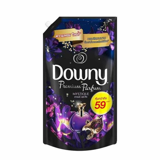 Downy น้ำยาปรับผ้านุ่ม กลิ่นมิสทิค 1400 มล. ถุงเติม สีม่วงดำ