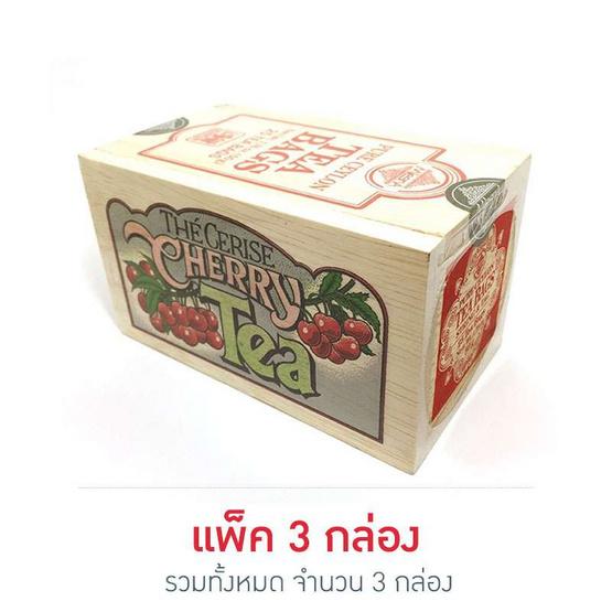 Mlesna Cherry ชาดำกลิ่นเชอร์รี่ ชนิดซอง ตรามาเลสน่า บรรจุ 25 ซอง/กล่อง (แพ็ค 3 กล่อง)
