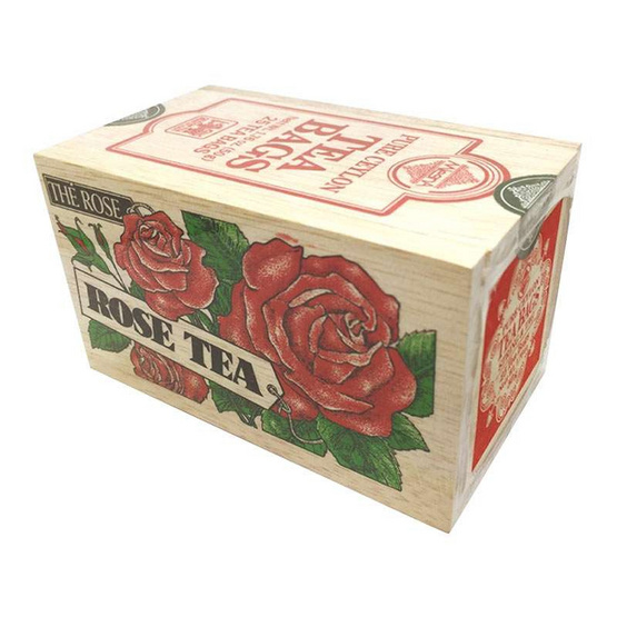 Mlesna Rose ชาดำกลิ่นกุหลาบ ชนิดซอง ตรามาเลสน่า บรรจุ 25 ซอง/กล่อง (แพ็ค 3 กล่อง)