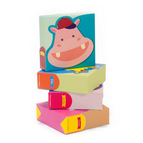 Double A กระดาษโน้ต Cutie Gang 7x7 ซม. 200 แผ่น/ชิ้น คละลาย คละสี (แพ็ค 4 ชิ้น)
