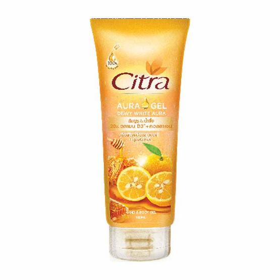 Citra แฮนด์ & บอดี้ ออร่าเจล ดิวอี้ ไวท์ 180 มล. สีส้ม