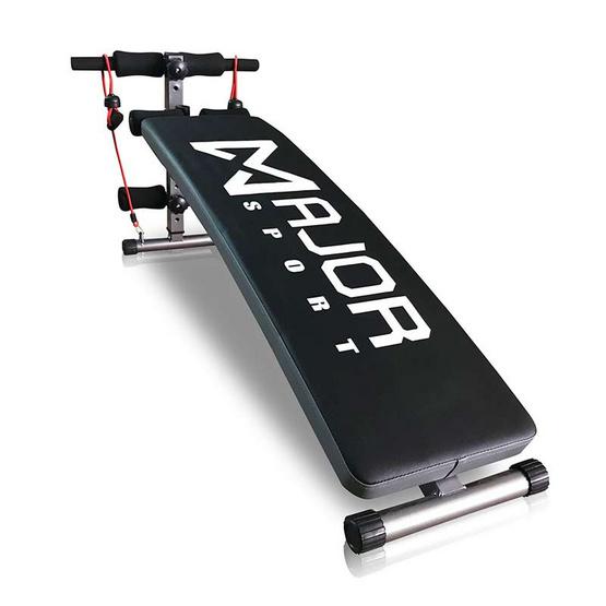 Major Sport ซิทอัพบริหารหน้าท้อง รุ่น QB-Y2 สีดำตัดขอบเทา ฟรีสายแรงต้าน 1 คู่