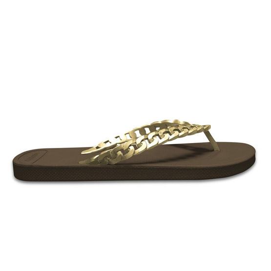 Monobo รองเท้า Jina 3 สีน้ำตาล/ทองเมทาลิค