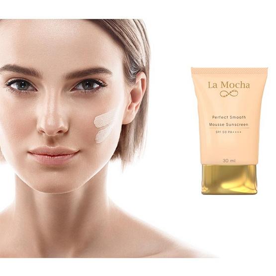 La Mocha Perfect Smooth Mousse Sunscreen SPF50 PA++++ 30 ml
