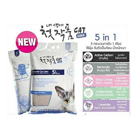 Two Two Pet ทรายแมวดอกลาเวนเดอร์ (5 in 1) ประเทศเกาหลี