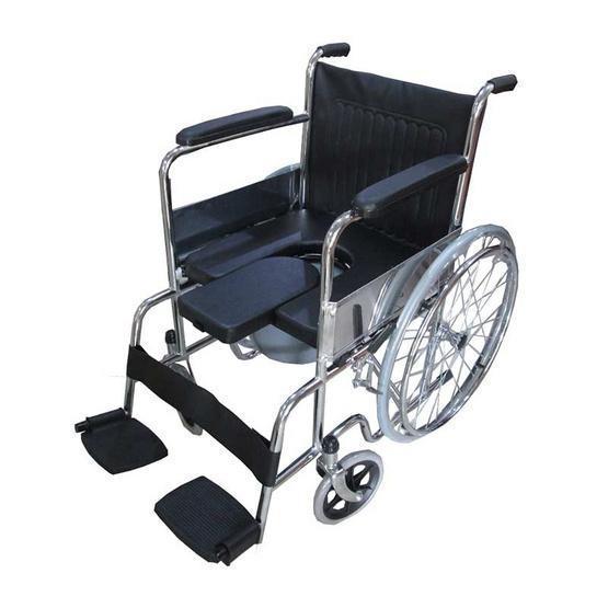 KTHealth รถเข็นผู้ป่วย นั่งถ่ายและพับได้ รุ่น KT608