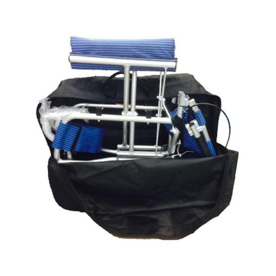 KTHealth รถเข็นผู้สูงอายุแบบพกพา มีกระเป๋า สีน้ำเงิน รุ่น KT802B