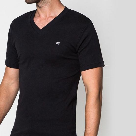 GUY LAROCHE เสื้อยืด COTTON 100% JVV2423 สีดำ