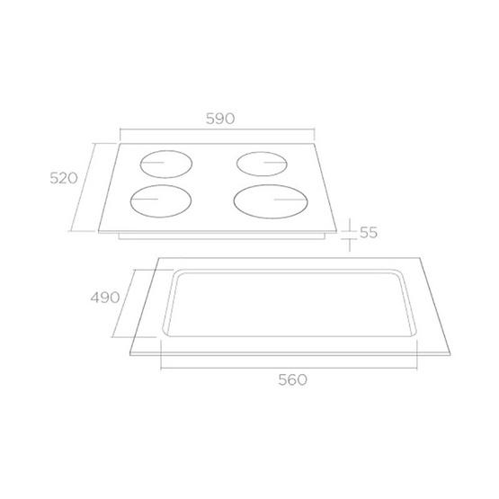 Tecno+ เตาแม่เหล็กไฟฟ้าแบบฝัง รุ่น TNP ID 4060 DG