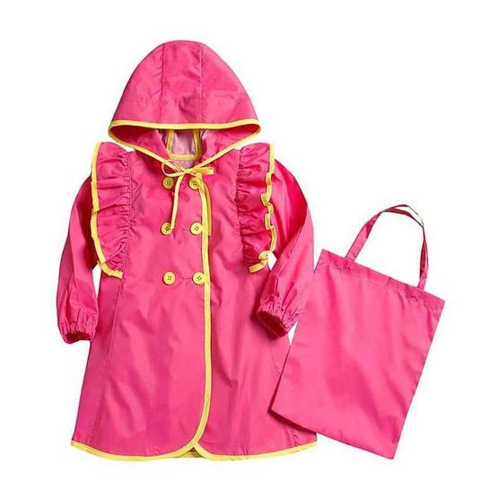 VIVO-BINIY Binnie ชุดกันฝนเด็กสีชมพู