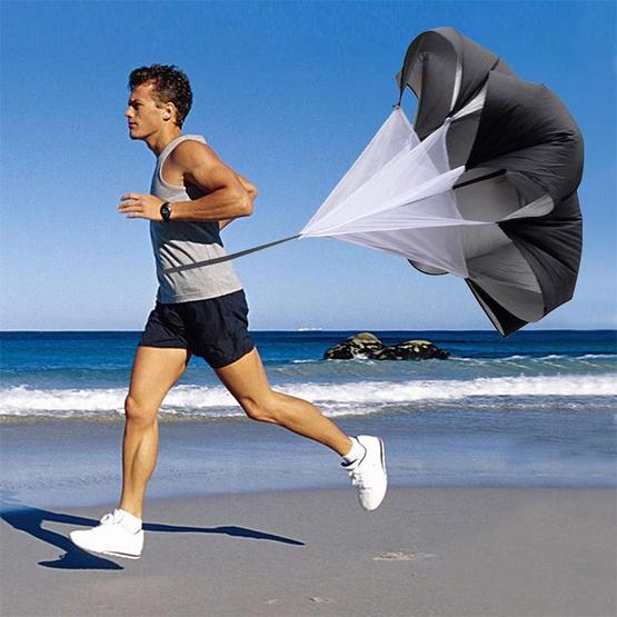 a bloom ร่มฝึกวิ่ง สำหรับเพิ่มความเร็ว สีดำ