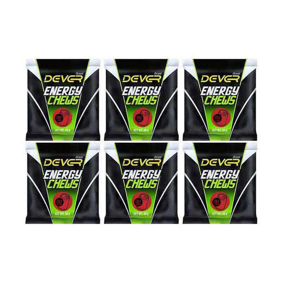 DEVER Energy Chews ดีเวอร์ เยลลี่ 30 กรัม รสโคล่า บรรจุ 6 ซอง/แพ็ค 3 แพ็ค แถมฟรี 1 แพ็ค