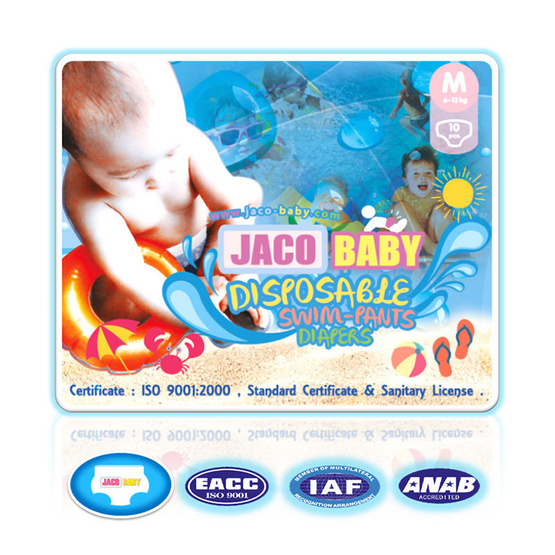Jaco Baby ผ้าอ้อมสำเร็จรูปสำหรับว่ายน้ำ ไซส์ M 10 ชิ้น