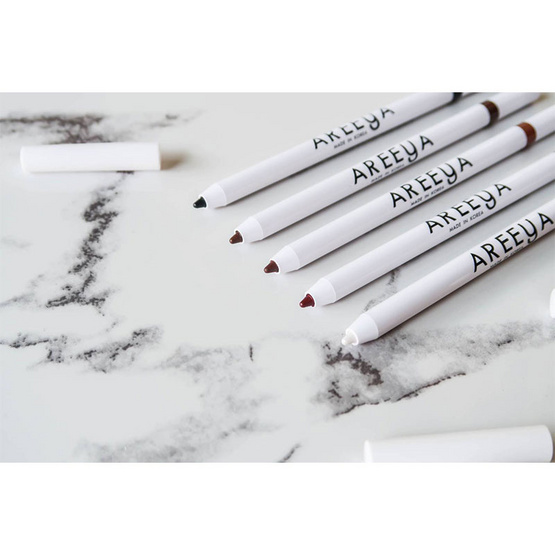 Areeya Super Fast Waterproof Eyeliner Pencil No.Diamond Burgundy