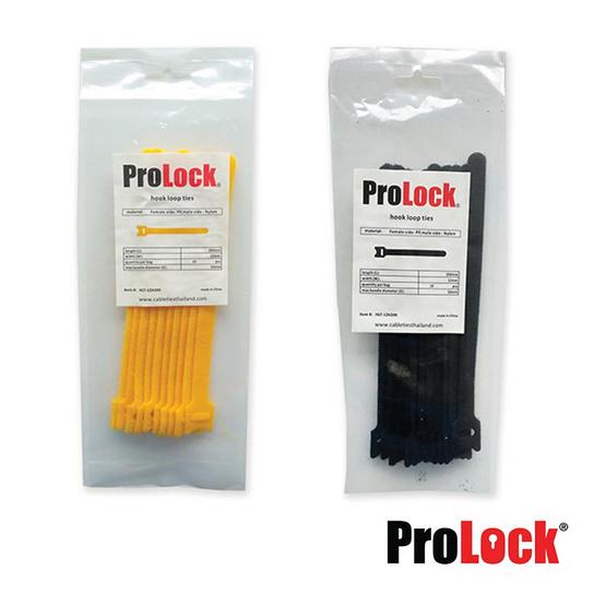 Prolock สายสอดรัดตีนตุ๊กแก ขนาด 12 x 200 มม. 8 นิ้ว (สีเหลือง/สีดำ)