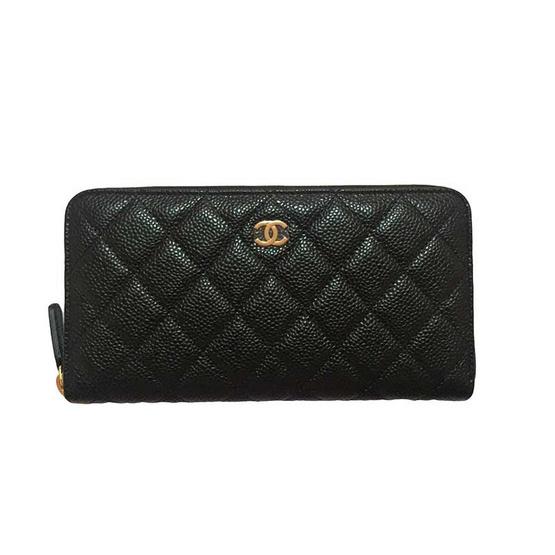 กระเป๋าสตางค์ CHANEL ZIPPY WALLET BLACK CAVIAR GHW [MCA50097GHWBLK]