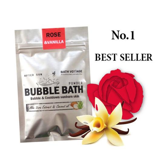 Bath Voyage After sun bubble bath powder Rose & Vanilla
