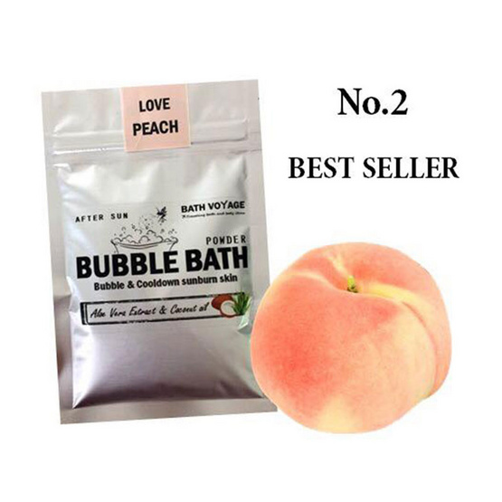 Bath Voyage After sun bubble bath powder Love peach