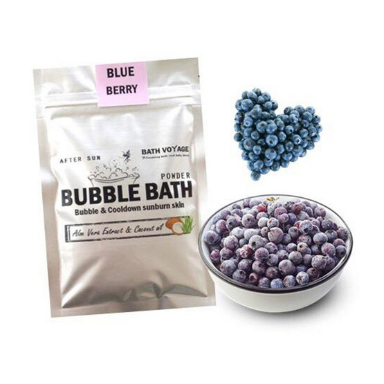 Bath Voyage After sun bubble bath powder Blueberry