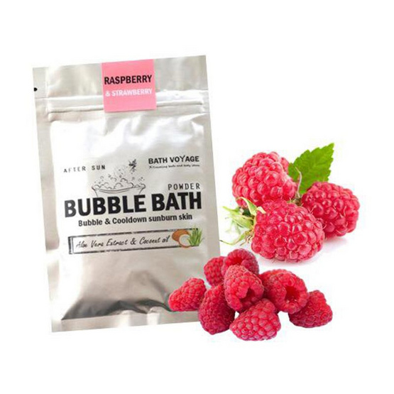Bath Voyage After sun bubble bath powder Raspberry & Strawberry