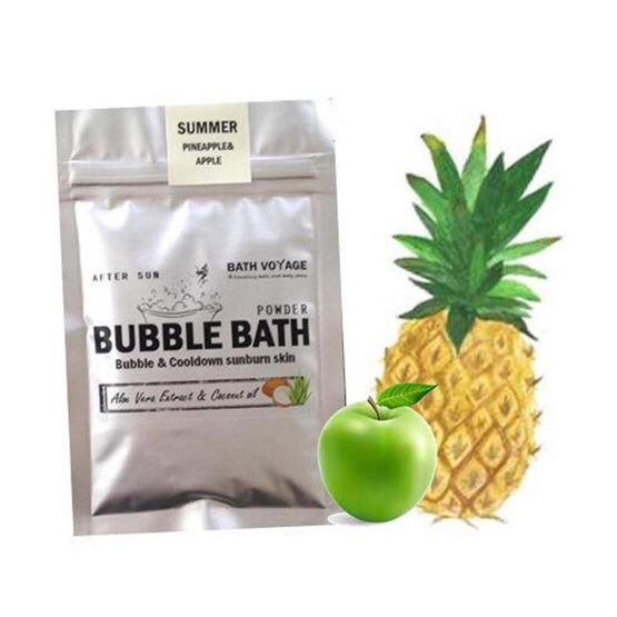 Bath Voyage After sun bubble bath powder Apple & Pineapple (Summer)
