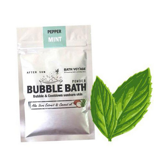 Bath Voyage After sun bubble bath powder Peppermint