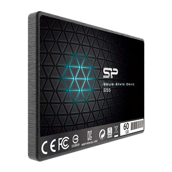 Silicon Power SSD S55 60GB. R/W 520/370 Mpbs