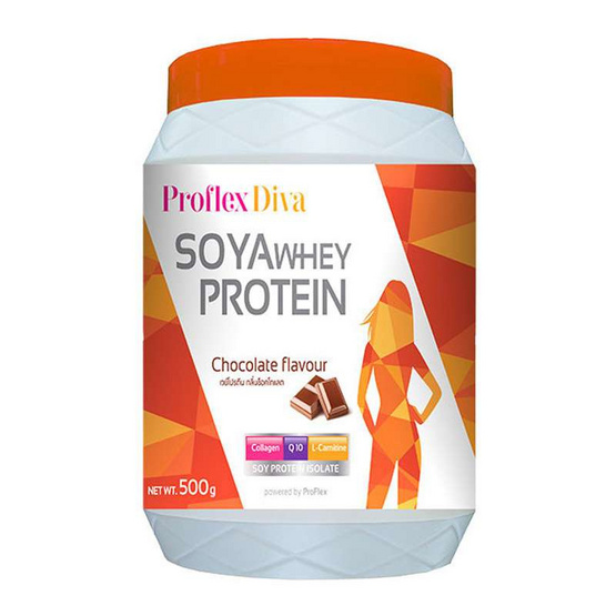 ProFlex Diva Chocalate โปรตีนถั่วเหลือง กลิ่นช็อคโกแลต ขนาด 500 กรัม