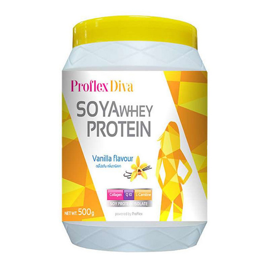 ProFlex Diva Vanilla โปรตีนถั่วเหลือง กลิ่นวนิลา ขนาด 500 กรัม