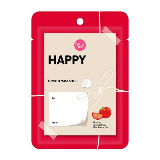Cathy Doll Feeling Happy Mask Sheet #Tomato (10 Pcs)