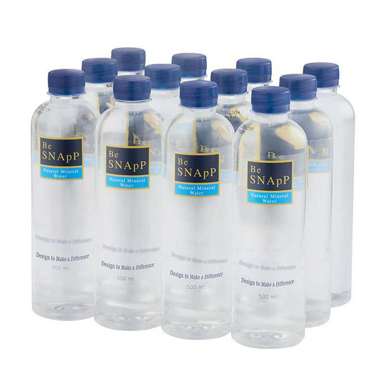 บี สแน๊ป น้ำแร่ธรรมชาติ 500 มล. (แพ็ค 12 ขวด)