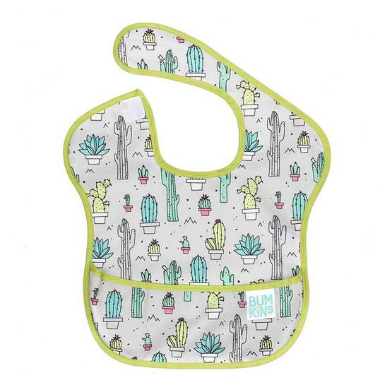 Bumkins ผ้ากันเปื้อนกันน้ำ รุ่น Super Bib สีเขียว ลาย Cacti สำหรับอายุ 6-24 เดือน