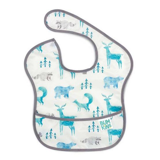 Bumkins ผ้ากันเปื้อนกันน้ำ รุ่น Super Bib สีขาว ลาย Wildlife สำหรับอายุ 6-24 เดือน