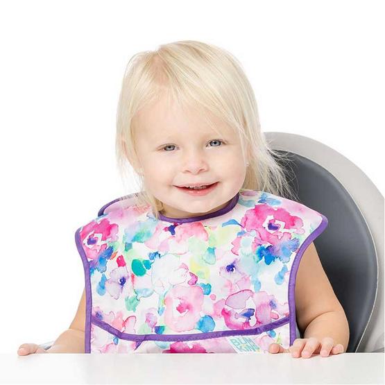 Bumkins ผ้ากันเปื้อนกันน้ำ รุ่น Super Bib สีม่วง ลาย Watercolor สำหรับอายุ 6-24 เดือน