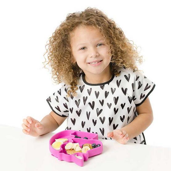 Bumkins ผ้ากันเปื้อนกันน้ำ รุ่น Junior Bib สีขาว ลาย Hearts สำหรับอายุ 1-3 ปี
