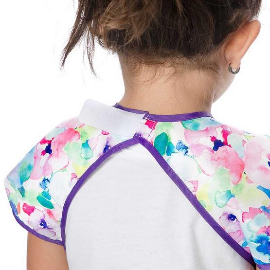 Bumkins ผ้ากันเปื้อนกันน้ำ รุ่น Junior Bib สีม่วง ลาย Water Color สำหรับอายุ 1-3 ปี