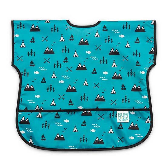 Bumkins ผ้ากันเปื้อนกันน้ำ รุ่น Junior Bib สีฟ้า ลาย Great Outdoors สำหรับอายุ 1-3 ปี