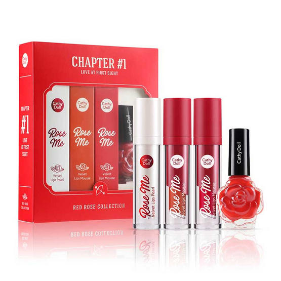 Cathy Doll All Red Rose Lip Set #01 Love at First Sight