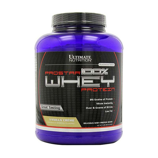 Ultimate PROSTAR Whey Protein เวย์โปรตีน ขนาด 5.28 ปอนด์ รสวนิลา