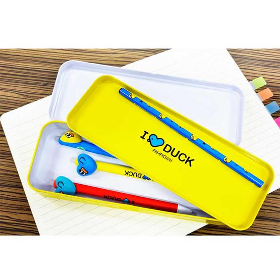Aihao กล่องดินสอ 2 ชั้น ลายเป็ดสุดน่ารัก (คละสี 1 ชิ้น)